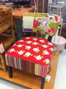 And my favorite is this bright, funky, patchwork inspired one at TJ Maxx. It's SO not what my mom needs... But it's fun, yes?!