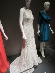 The white gown is Laura Bush Hager's custom wedding gown.