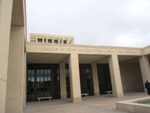 The George W. Bush Presidential Library is on the edge of the SMU campus, Dallas TX
